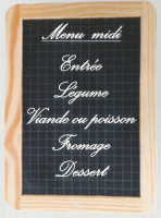 Composition du menu